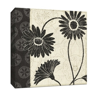 """PTM Images 9-152536  PTM Canvas Collection 12"""" x 12"""" - """"Influence I"""" Giclee Flowers Art Print on Canvas"""
