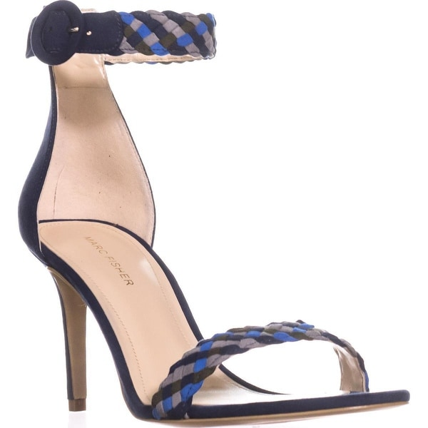 Marc Fisher Braelin Woven Ankle Strap Sandals, Blue Multi - 9.5 us