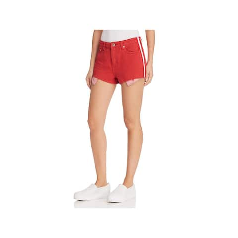 Pistola Womens Winston Denim Shorts Striped High Rise
