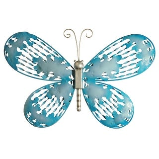 "18"" Blue Butterfly Wall Decoration - N/A"
