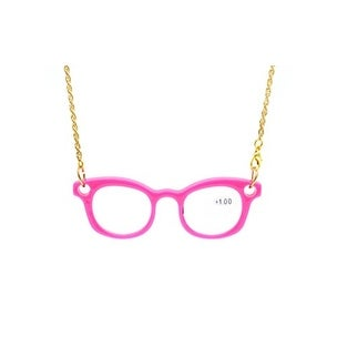 Eyekepper Mini Readers Necklace Reading Glasses Pink +1.25