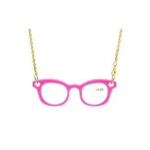 Eyekepper Mini Readers Necklace Reading Glasses Pink +1.5