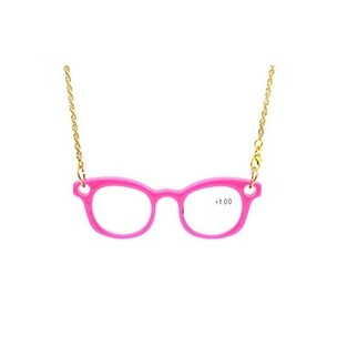 Eyekepper Mini Readers Necklace Reading Glasses Pink +2.25