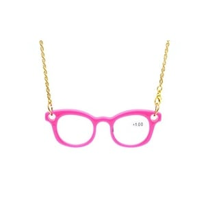 Eyekepper Mini Readers Necklace Reading Glasses Pink +3.0