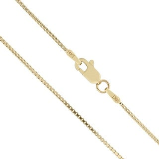 Mcs Jewelry Inc 14 KARAT YELLOW GOLD SOLID BOX CHAIN (1mm) (5 options available)