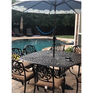 Havenside Home Carmel Cast Aluminum 9-piece Dining Set with Seat Cushions