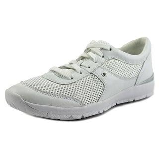 Easy Spirit GoGo Women W Round Toe Leather White Sneakers