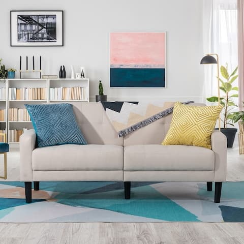 Futzca 63'' Small Modern Loveseat Couch, 2-Seat Couch Tufted Love Seat for Small Space