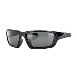 Carve Eyewear Crew Shiny Black With Polarized Grey Lens