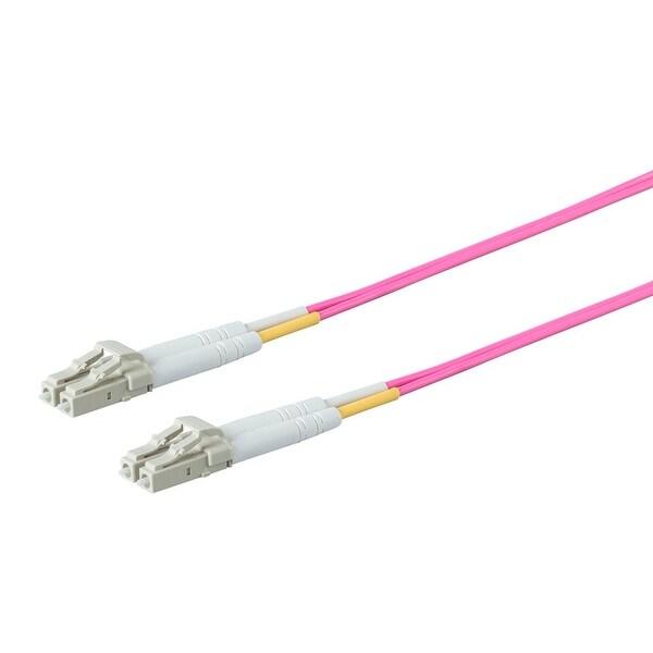 Entegrade OM4 Fiber Optic Cable LC/LC Multi Mode Duplex - 1 Meter (50/125 Type)