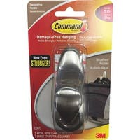 3M Command Lrg Nickel Hook