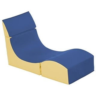 s Softzone Fold-A-Way Chair, Blue & Yellow