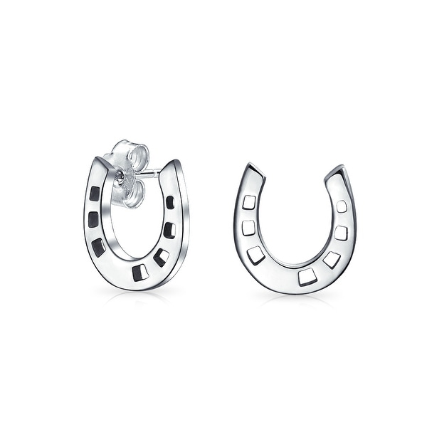 Horseshoe Stud Earrings 925 Sterling Silver