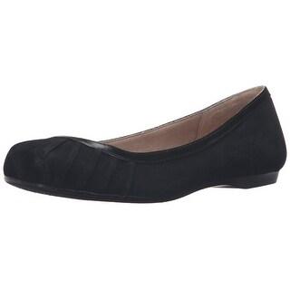 Jessica Simpson Womens Merlie Leather Square Toe Slide Flats