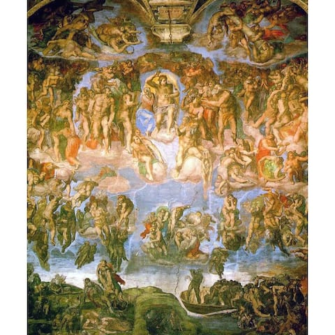 Easy Art Prints Michelangelo's 'The Last Judgement, Sistine Chapel' Premium Canvas Art