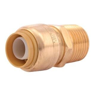 """Sharkbite UIP120A Brass Pipe Coupling, 1/2"""" IPS x 1/2"""" MNPT"""