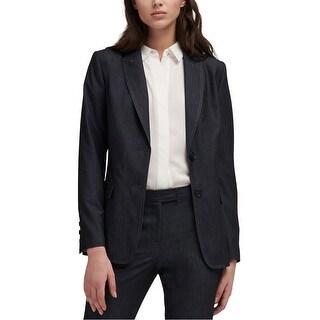 Link to Dkny Womens Two-Button Denim Blazer Jacket Similar Items in Women's Outerwear