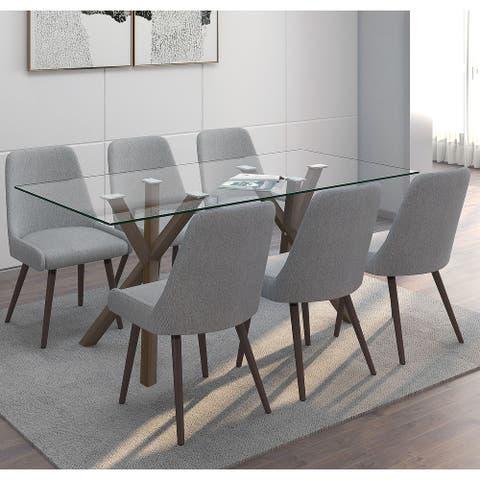 7 Pc Contemporary Dining Set