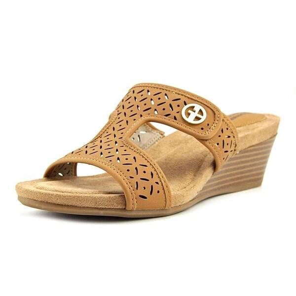 Giani Bernini Brezaa Women Open Toe Synthetic Tan Wedge Sandal