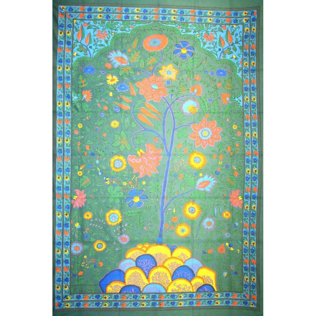 Tree Of Life Tapestry Wall Hanging Tablecloth Rectangle Beach Spread On Sale Overstock 13327024