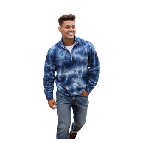 Charles River Unisex Quarter Zip Sweatshirt Tie-Dye