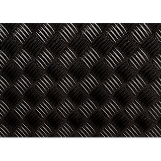 "Brewster 99494 17-7/10"" x 78-3/4"" - Black Diamond Plate - Self-Adhesive Repositionable Vinyl Wall Decal - N/A"