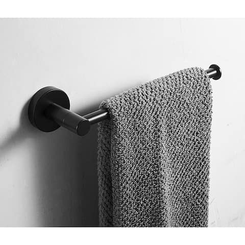 "Stainless Steel Matte Bathroom Accessories Set,Hooks Towel Ring etc - 8'3"" x 11'"