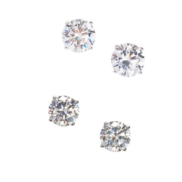 925 Sterling Silver Stud Earring with Cubic Zirconia