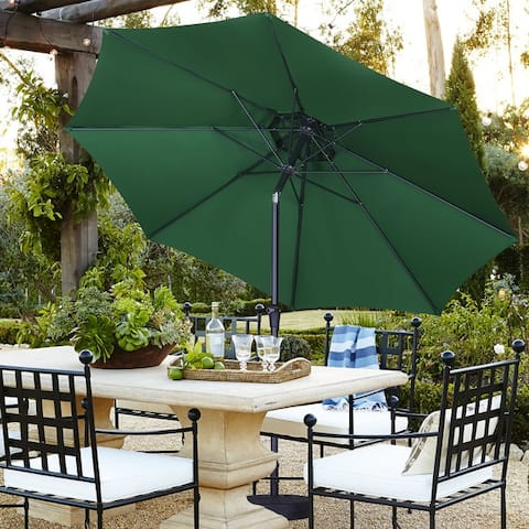 Ainfox 11ft 2 Tier Patio Umbrella with Crank Without Base