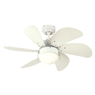 "Westinghouse 7814565 Turbo Swirl 30"" 6 Blade Hanging Indoor Ceiling Fan with Rev"
