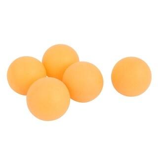 5 Pcs 40mm Diameter Leisure Plastic Table Tennis Balls Orange