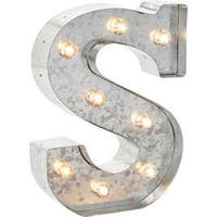 "Silver Metal Marquee Letter 9.875""-S"