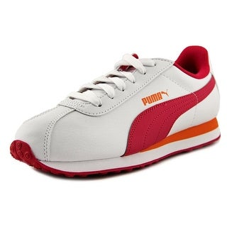 Puma Turin Jr Youth Round Toe Synthetic White Tennis Shoe