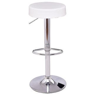 Costway Adjustable Hydraulic Swivel Round Leather Seat Bar Stool White|https://ak1.ostkcdn.com/images/products/is/images/direct/d0b927f5cd378ed2a66d606347e2f386b4921d4b/Costway-Adjustable-Hydraulic-Swivel-Round-Leather-Seat-Bar-Stool-White.jpg?impolicy=medium