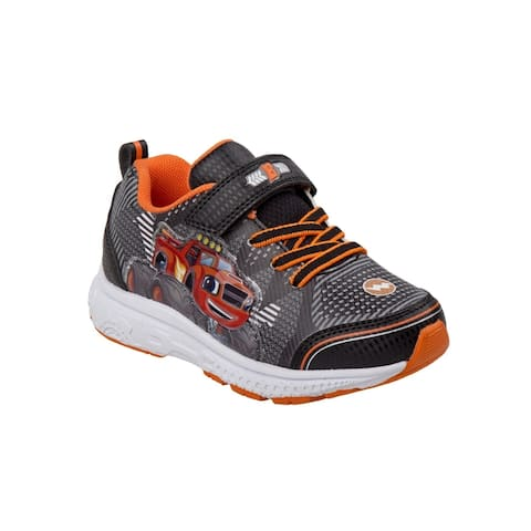 Nickelodeon Little Boys Gray Blaze Light Up Trendy Sneakers