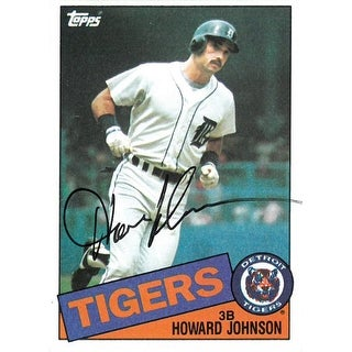 Howard Johnson signed Detroit Tigers 1985 Topps Baseball Card #192