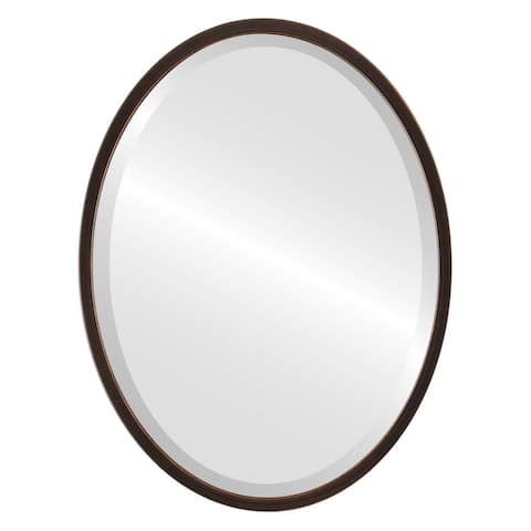 London Framed Oval Mirror - Rubbed Bronze - Rubbed Bronze