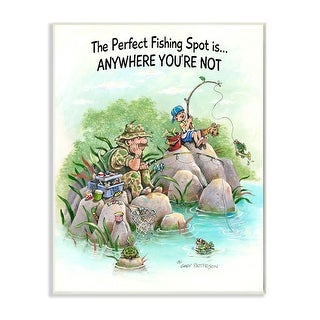 Link to Stupell Industries Perfect Fishing Sport Funny Sports Cartoon Design Wood Wall Art Similar Items in Wood Wall Art