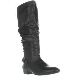 SC35 Pettra Flat Knee-High Boots, Black