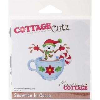 """Snowman In Cocoa 3.1""""X2.9"""" - Cottagecutz Die"""