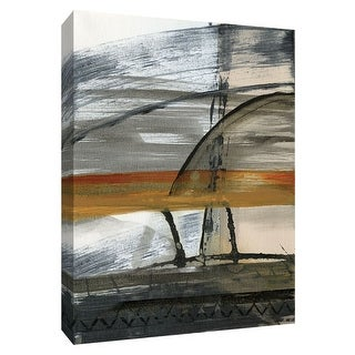 "PTM Images 9-148452  PTM Canvas Collection 10"" x 8"" - ""Brown Settlement I"" Giclee Abstract Art Print on Canvas"