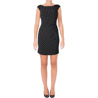Lauren Ralph Lauren Womens Petites Koriza Wear to Work Dress Polka Dot Sheath - 12P