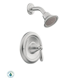 Moen T62152EP  Single Handle Posi-Temp Pressure Balanced Shower Trim with Shower Head from the Brantford Collection (Less Valve)