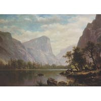 ''Mirror Lake, Yosemite Valley'' by Albert Bierstadt Museum Art Print (14 x 19.5 in.)