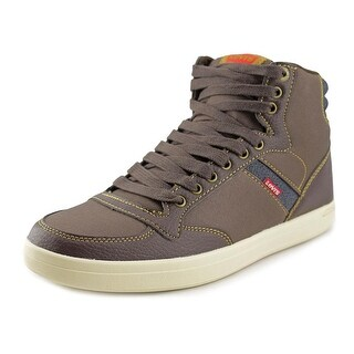 Levi's Wesley Hi Casual Men Canvas Brown Fashion Sneakers
