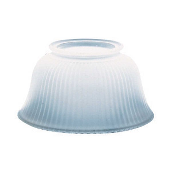 Lamp Shade White Glass Traditional 3 5/8 H x 4 Fitter | Renovator's Supply