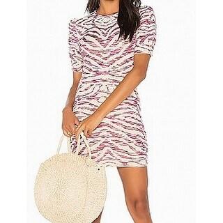 Free People NEW Purple Womens Size Small S Marled Crewneck Sheath Dress