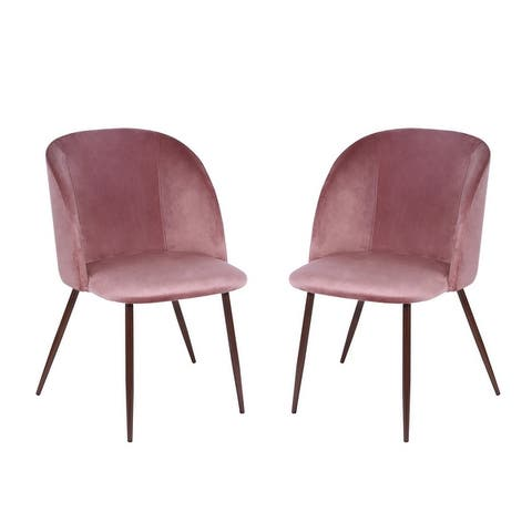 EdgeMod Kantwell Velvet Dining Chair (Set of 2)