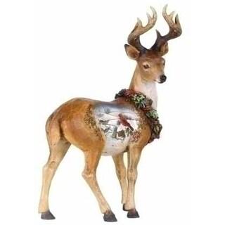 "9"" Joseph's Studio Snowfall Valley Standing Scenic Deer Christmas Figure"