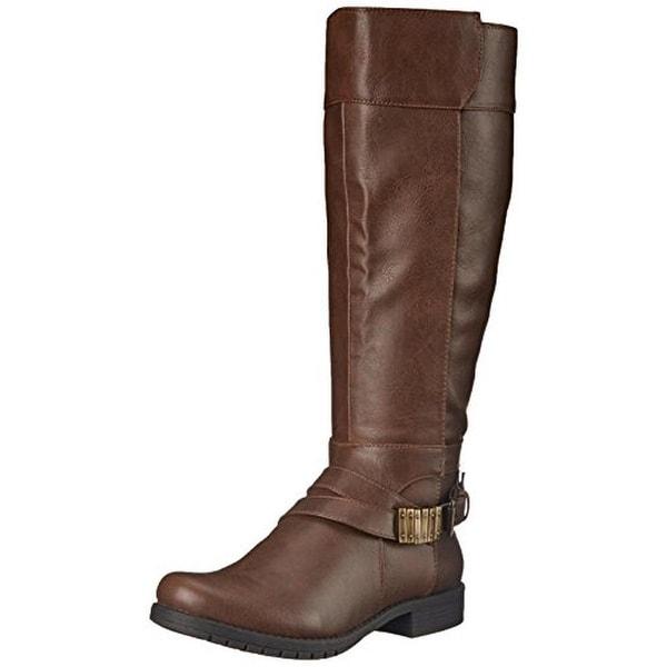 LifeStride Womens Maximize Riding Boots Wide Calf Faux Leather